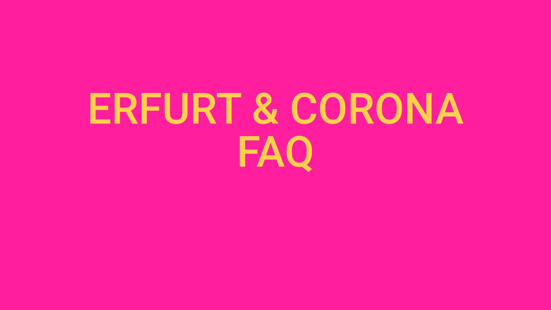 Erfurt & Corona – Alle Fragen und Antworten